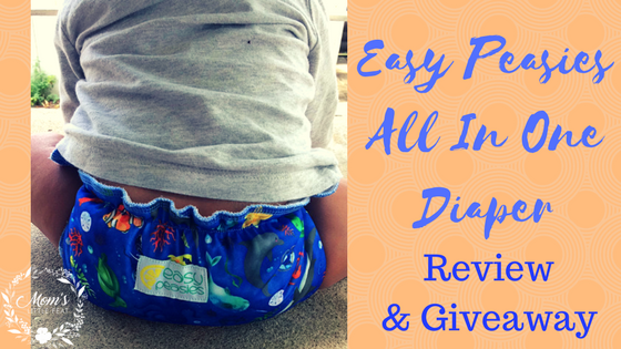 Easy Peasies All In One Diaper Review & Giveaway