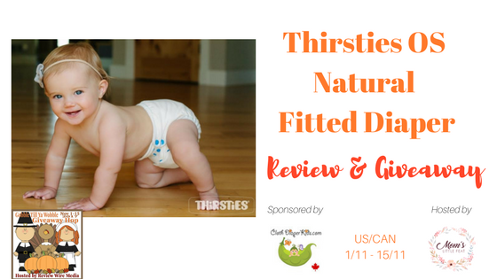 Thirsties OS Natural Fitted Diaper Review { + Giveaway}