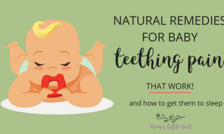 Natural remedies for baby teething pain (& how to get them to sleep)